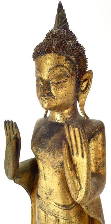 Lot of 2 Sculptures: Thai Buddha & Shiva 20th C. - 4