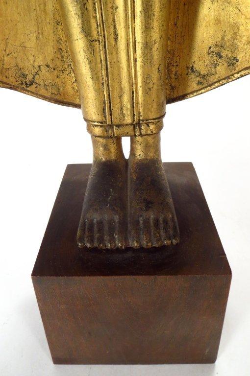Lot of 2 Sculptures: Thai Buddha & Shiva 20th C. - 5