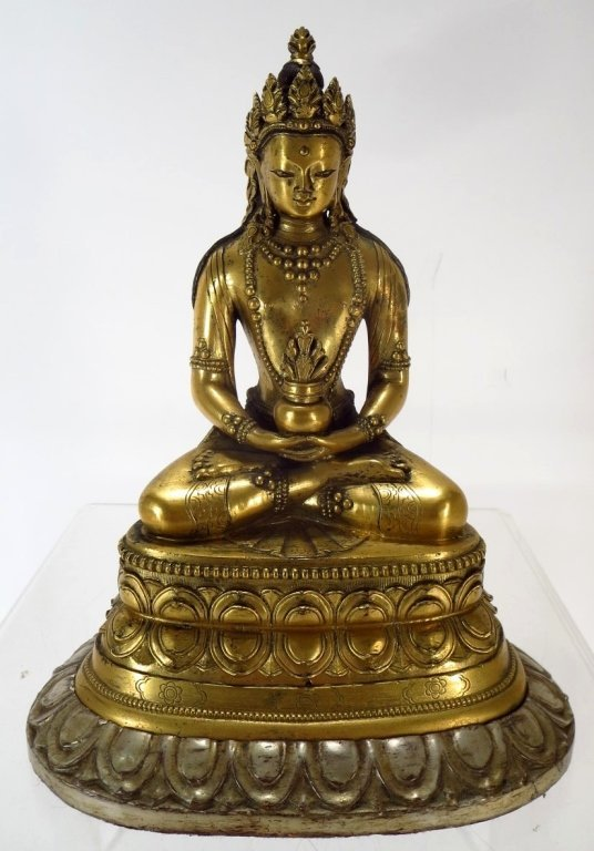 Sino-Tibetan Gilt Bronze Bodhisattva