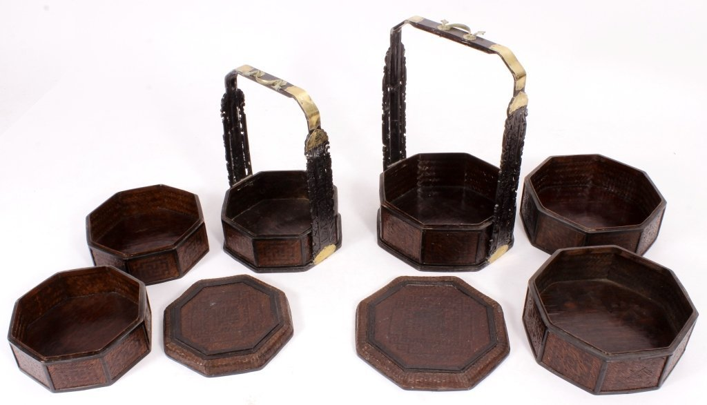 2 Chinese Wedding Baskets, 20th - 5