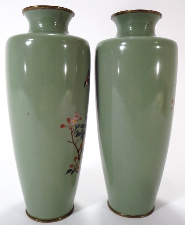 Pair of Cloisonne Vases, Asian, 20th C. - 2