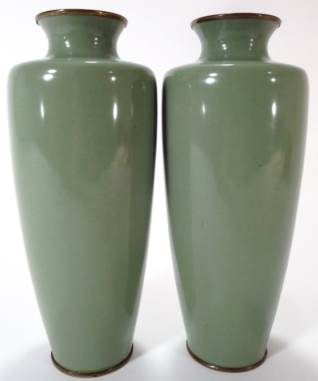 Pair of Cloisonne Vases, Asian, 20th C. - 3
