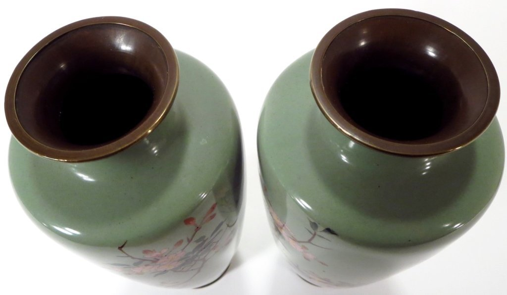 Pair of Cloisonne Vases, Asian, 20th C. - 6