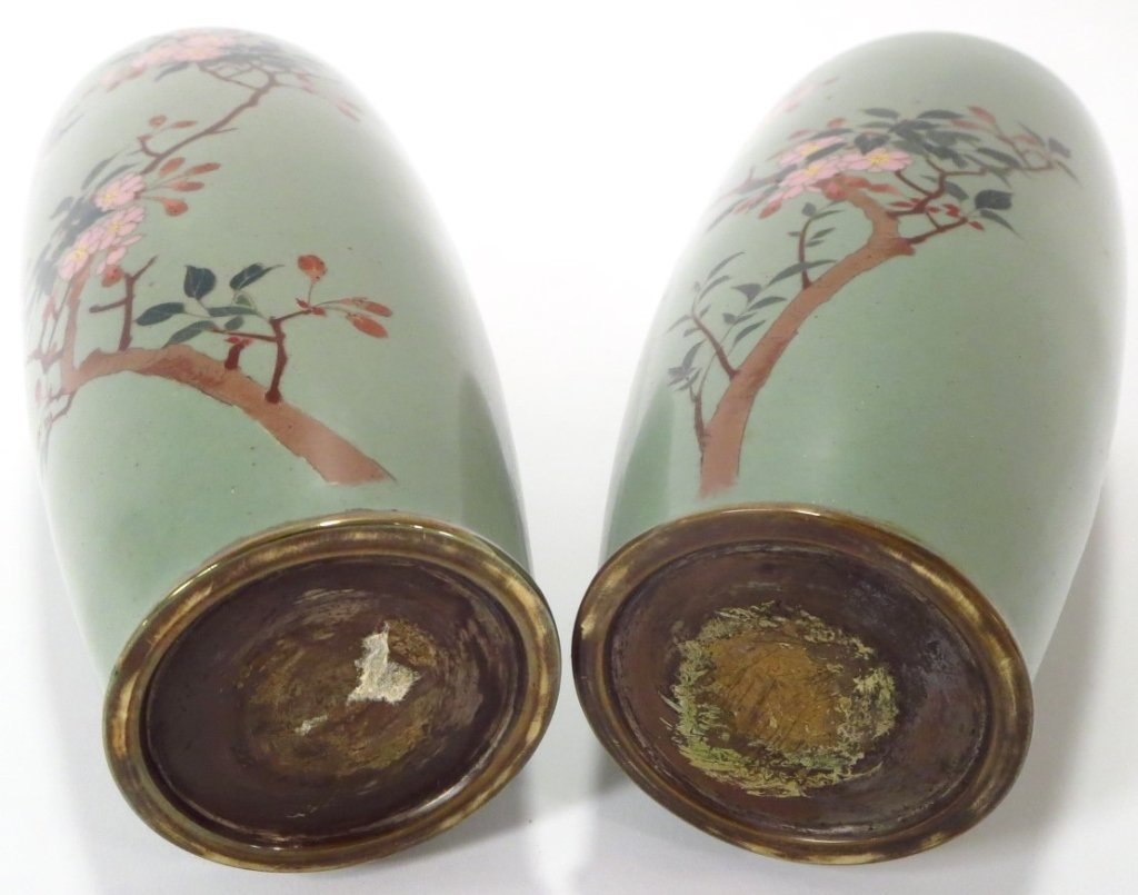 Pair of Cloisonne Vases, Asian, 20th C. - 7