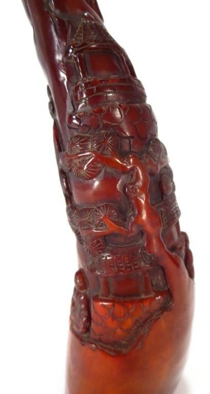 Asian Style Comp. Rhyton Cup & Horn Carving - 4