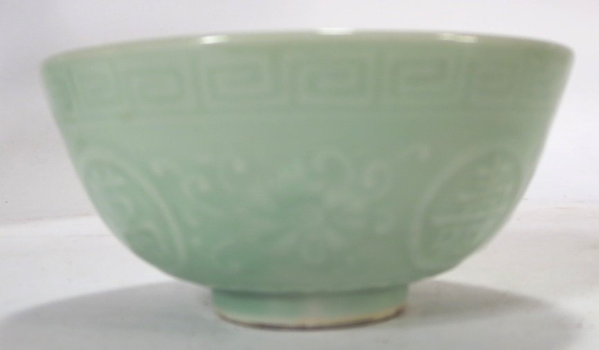 3 Chinese Celadon Porcelain Items, 19th-20th C. - 2