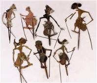 6 Antique Indonesian Shadow Puppets