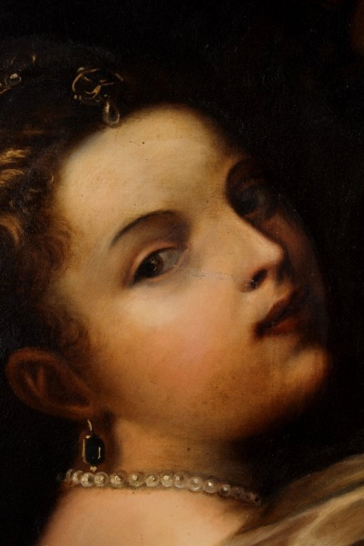 After Titian, Girl with Basket of Fruits, O/C - 2