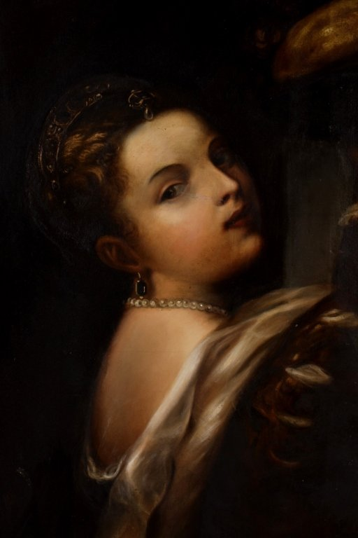 After Titian, Girl with Basket of Fruits, O/C - 4
