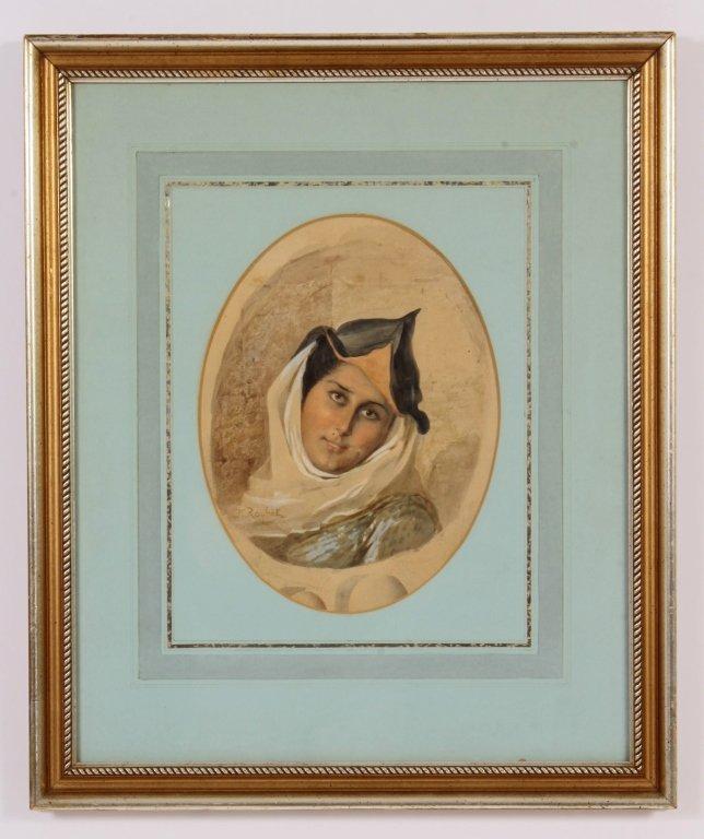 F. Roybet,  Fr., 1840-1920, Medieval Woman, W/C - 2
