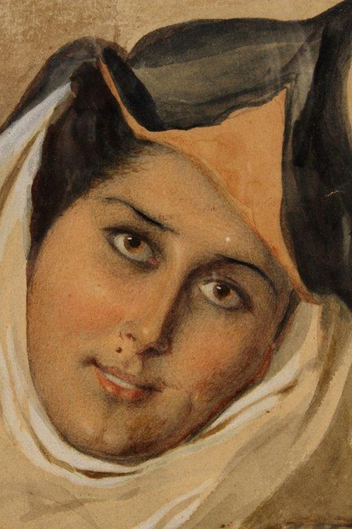 F. Roybet,  Fr., 1840-1920, Medieval Woman, W/C - 3