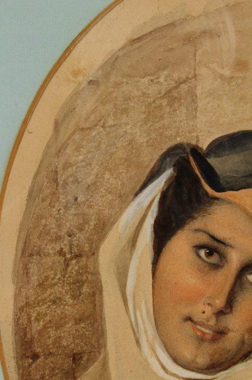 F. Roybet,  Fr., 1840-1920, Medieval Woman, W/C - 4