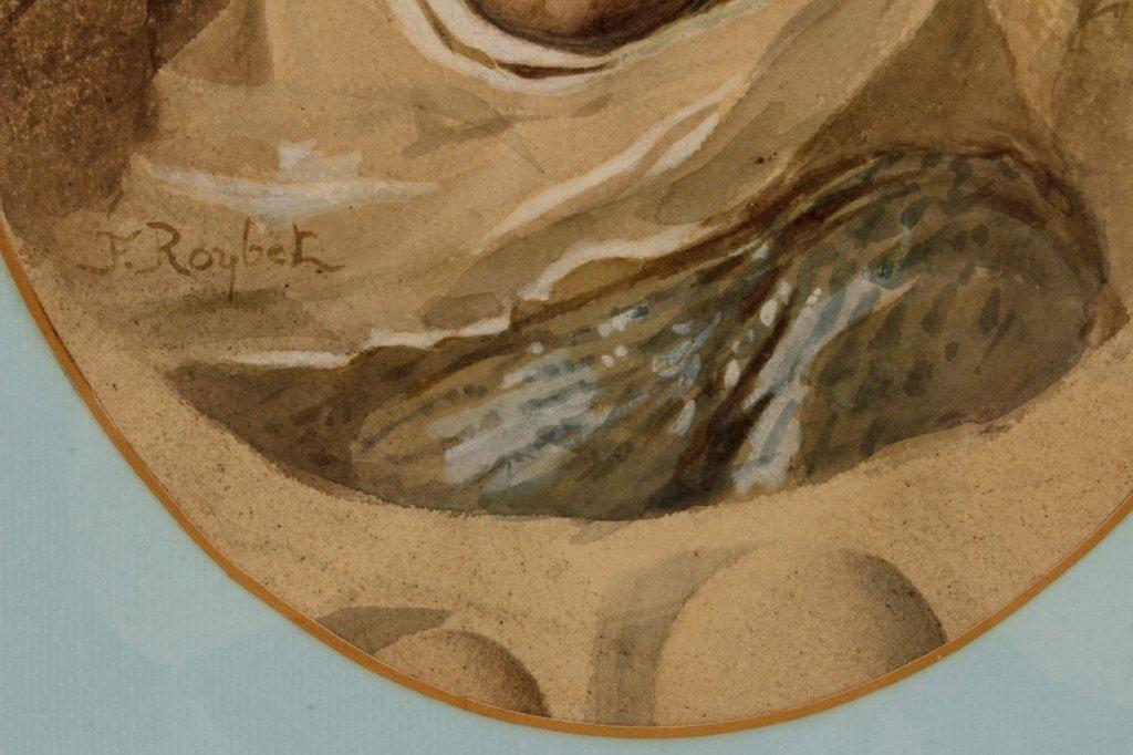 F. Roybet,  Fr., 1840-1920, Medieval Woman, W/C - 5