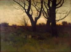 Charles Warren Eaton, Am., Fall Sunset,o/c
