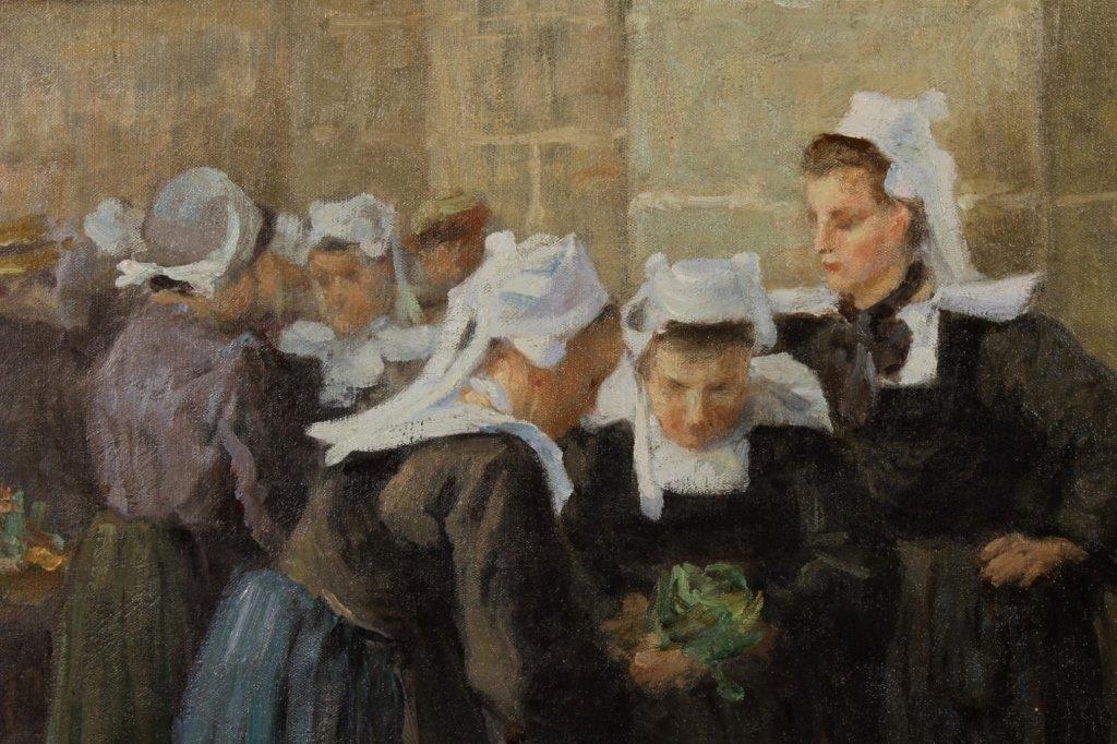 Maurice Grun, Fr., 1869 - 1947, French Market ,O/C - 2