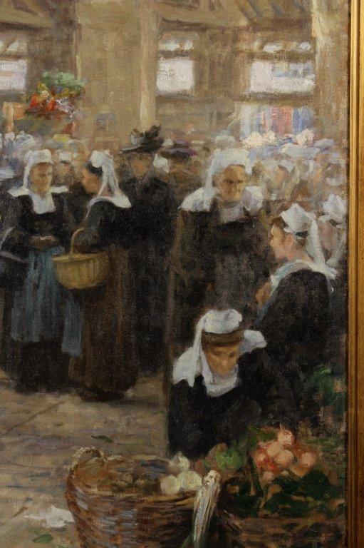 Maurice Grun, Fr., 1869 - 1947, French Market ,O/C - 4