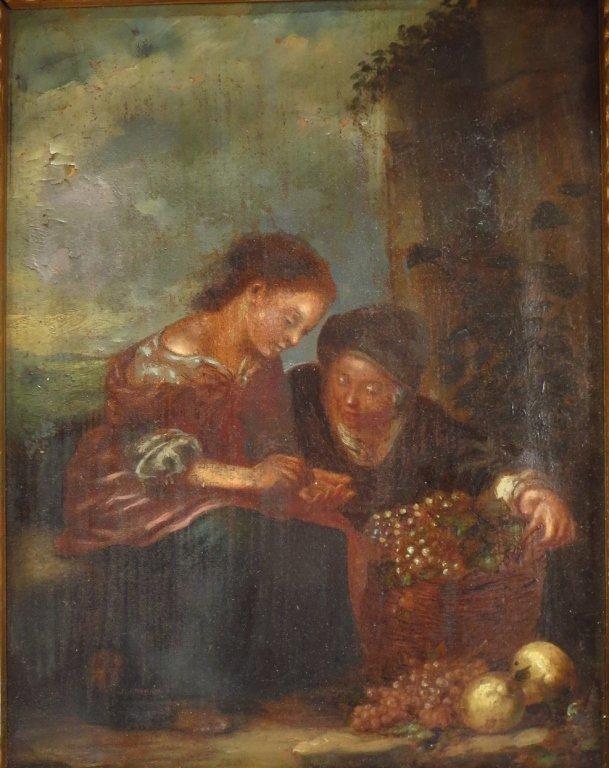 European School, 18th-19th C,The Grape Seller, o/c