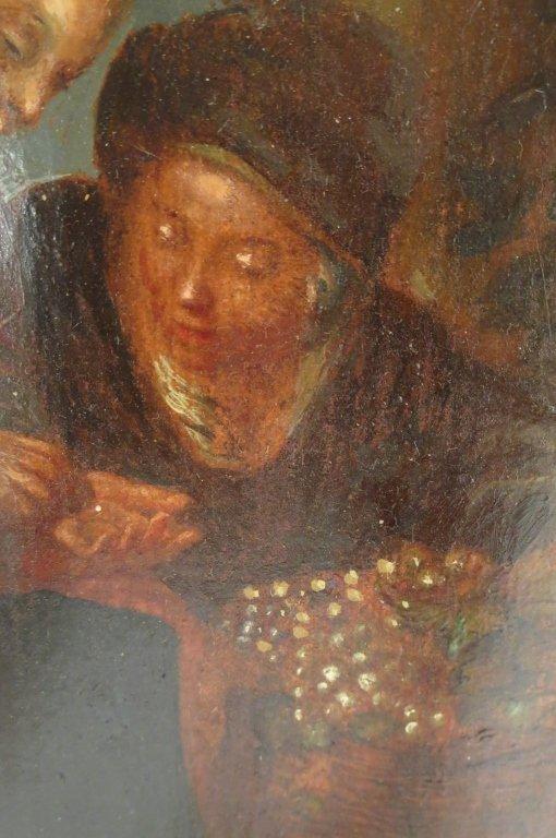 European School, 18th-19th C,The Grape Seller, o/c - 4