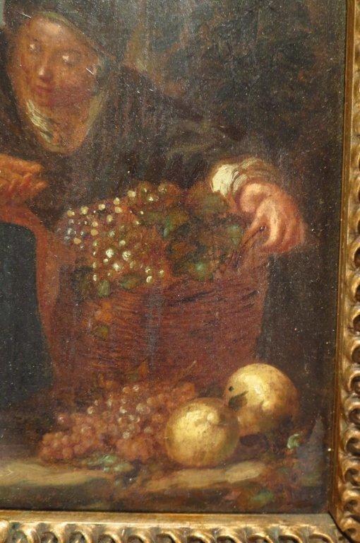 European School, 18th-19th C,The Grape Seller, o/c - 5