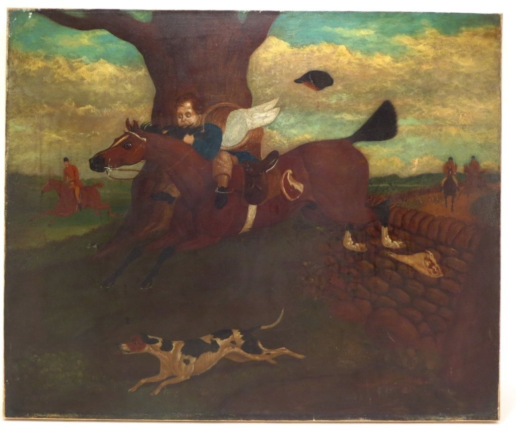 Fox Hunt, O/C, 19th C. - 2