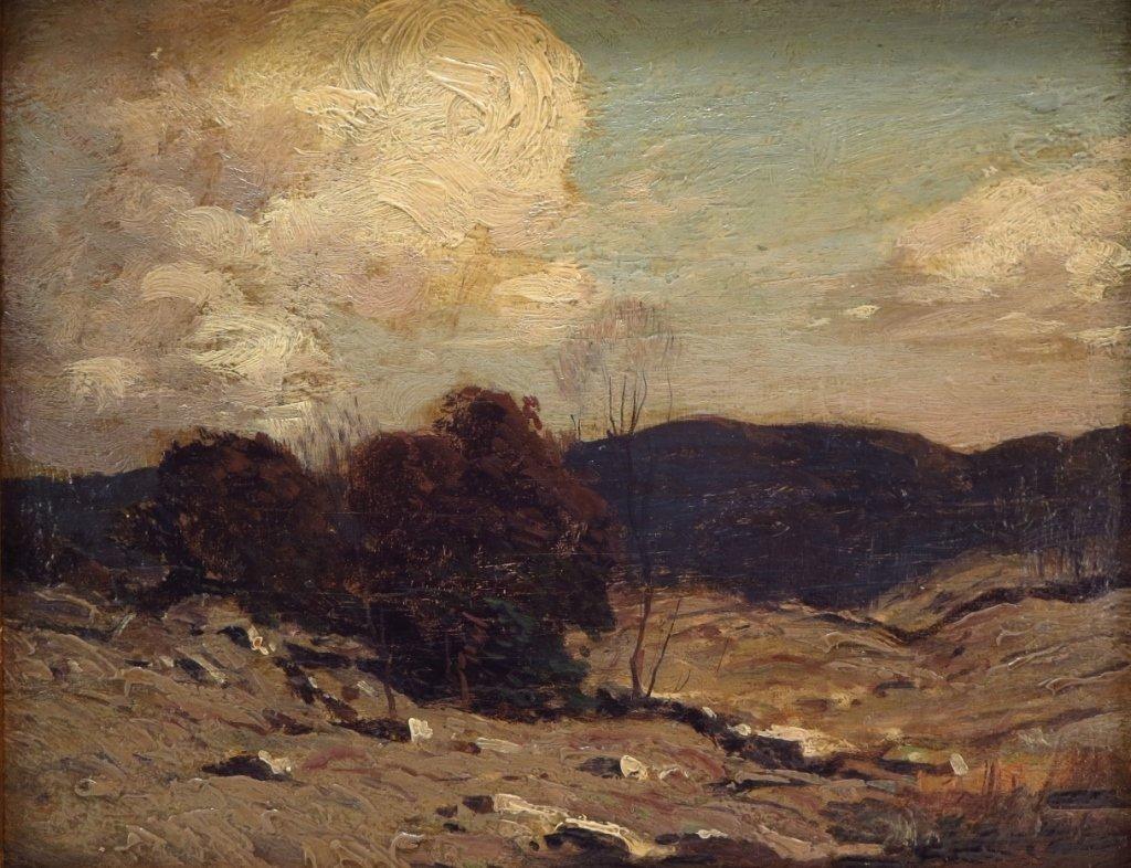 """George Bruestle, Am. 1871-1939,""""N. E. Hills"""" O/B"""