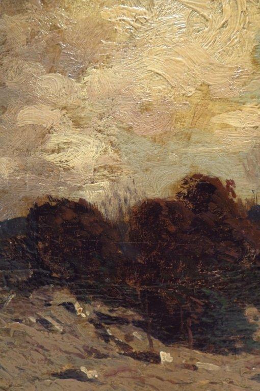 """George Bruestle, Am. 1871-1939,""""N. E. Hills"""" O/B - 3"""