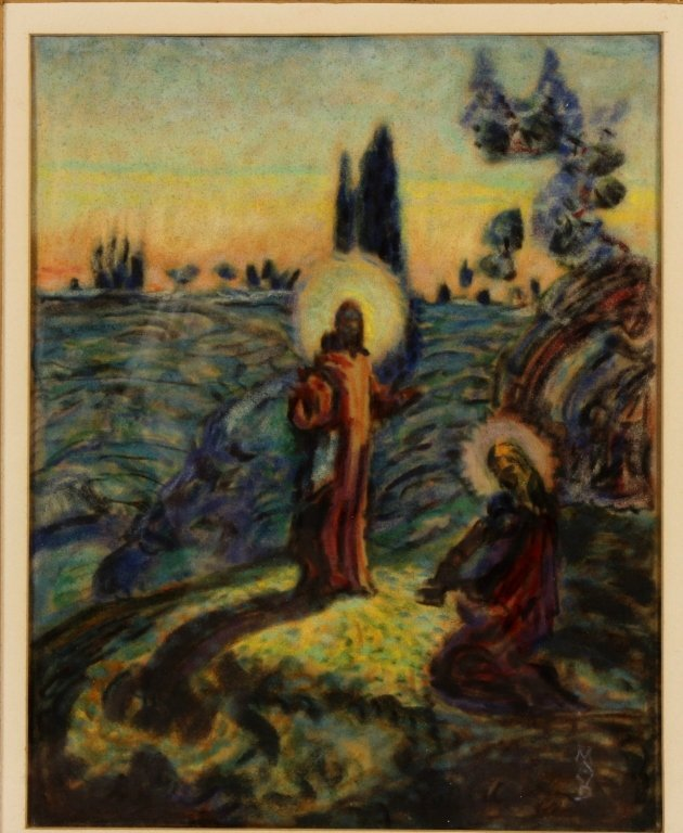 Maurice Denis, Fr., 1870-1943, Religious, Pastel - 2