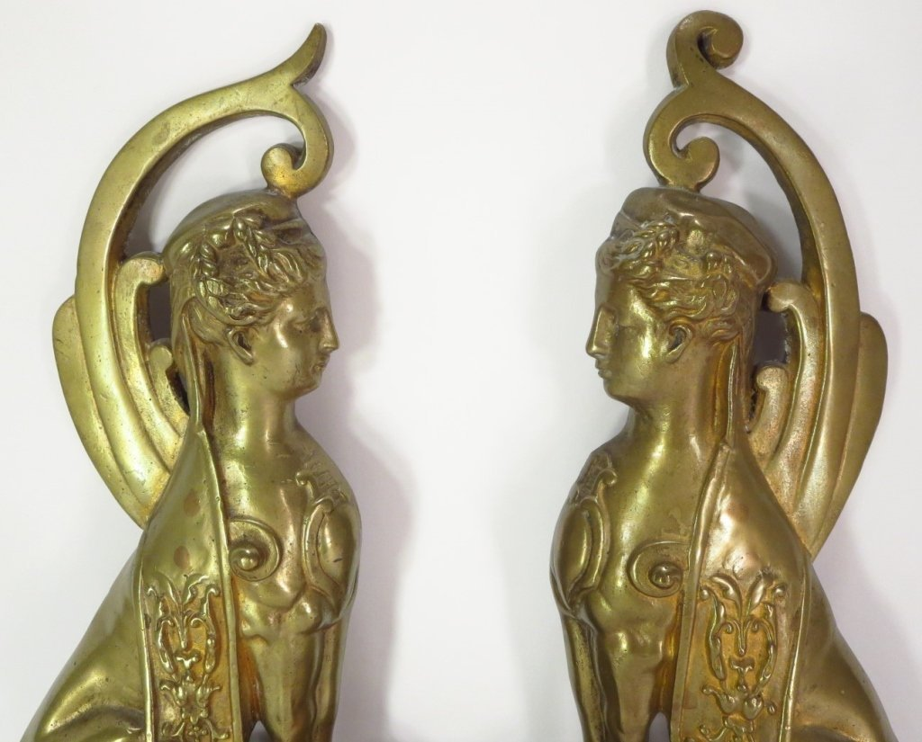Pair of Brass Sphinx, French, c. 1870 - 2