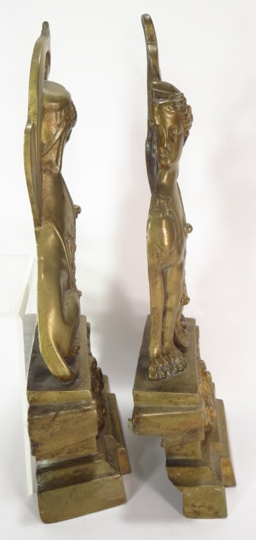 Pair of Brass Sphinx, French, c. 1870 - 3