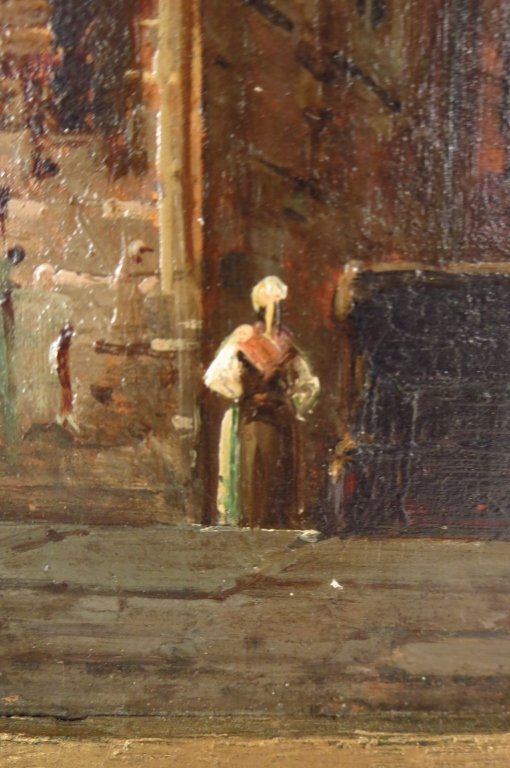 V. Lagrange, 19th Street Scene, O/B. Signed. - 3