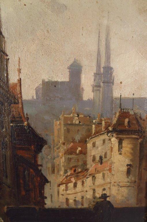 V. Lagrange, 19th Street Scene, O/B. Signed. - 4