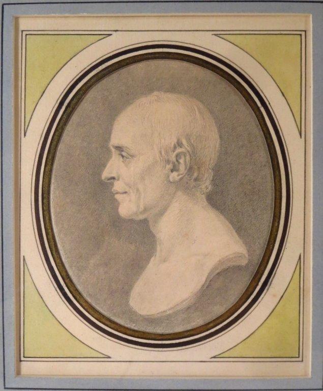 A. de Saint-Aubin, drawing & engraving d'Alembert, - 2