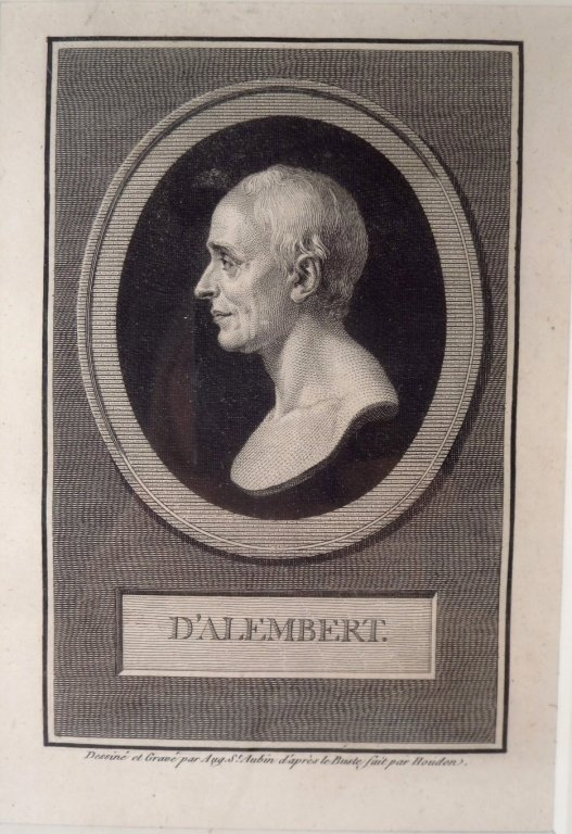 A. de Saint-Aubin, drawing & engraving d'Alembert, - 3