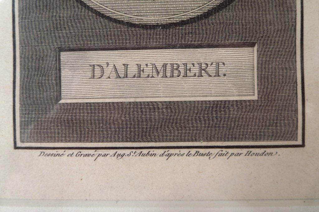 A. de Saint-Aubin, drawing & engraving d'Alembert, - 4