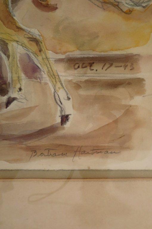 Bertram Hartman, Am., Cow with Calf, w/c on paper - 5