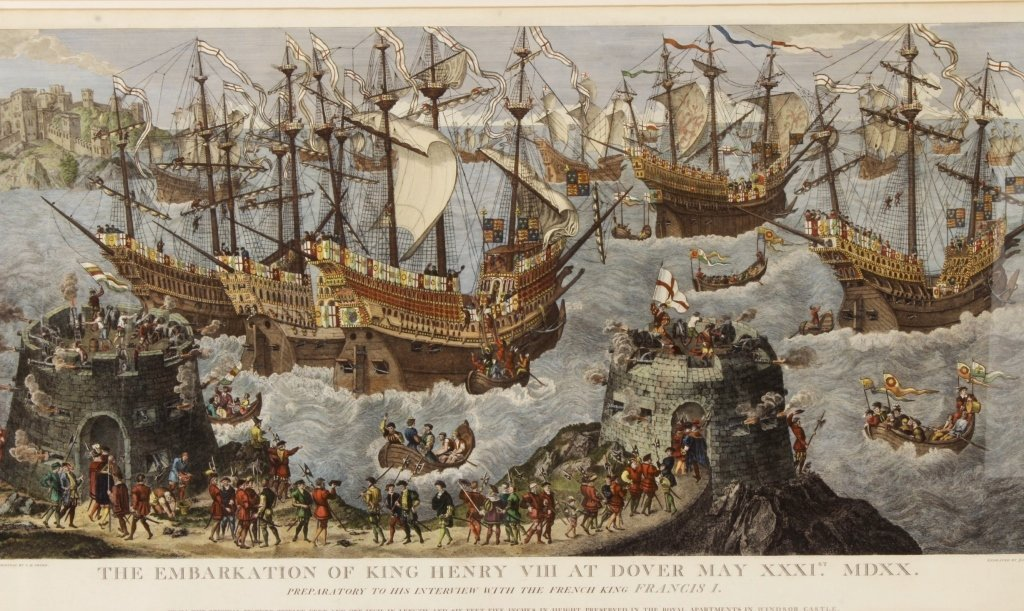"James Basire, ""Embarkation...Henry VIII"", Panorama - 2"