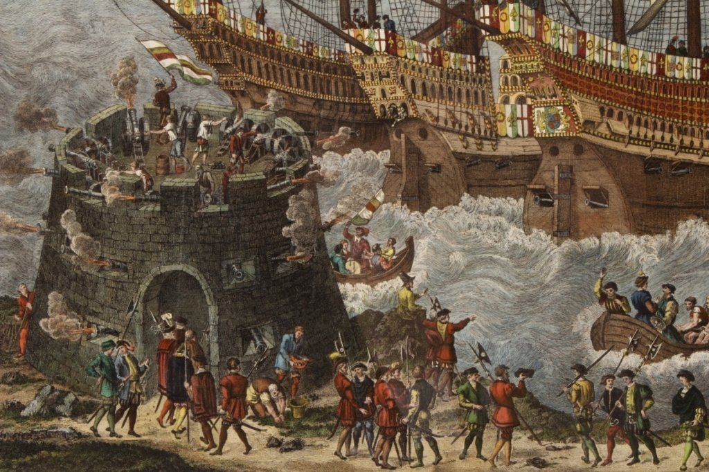 "James Basire, ""Embarkation...Henry VIII"", Panorama - 4"
