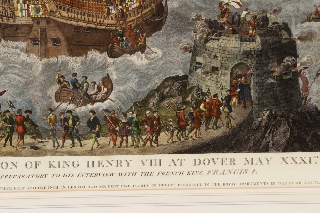 "James Basire, ""Embarkation...Henry VIII"", Panorama - 5"