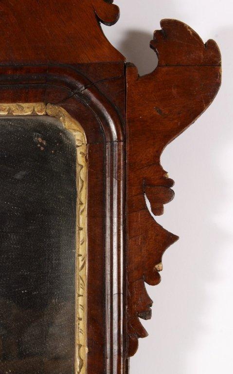 Federal Mirror w/ Gilt Plumes in Crest c. 1800 - 3
