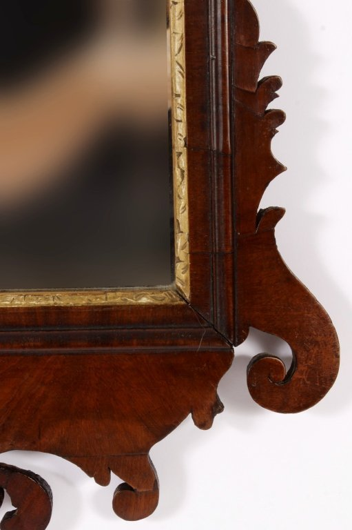 Federal Mirror w/ Gilt Plumes in Crest c. 1800 - 4