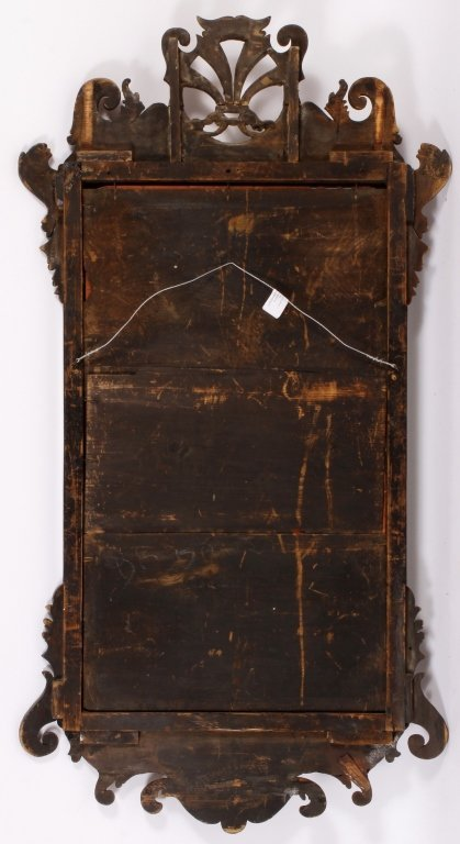 Federal Mirror w/ Gilt Plumes in Crest c. 1800 - 6