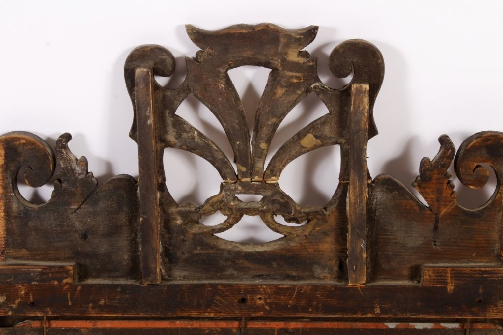 Federal Mirror w/ Gilt Plumes in Crest c. 1800 - 7