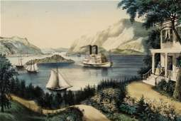 3 Currier & Ives Hand-Colored Lithographs, c.1870