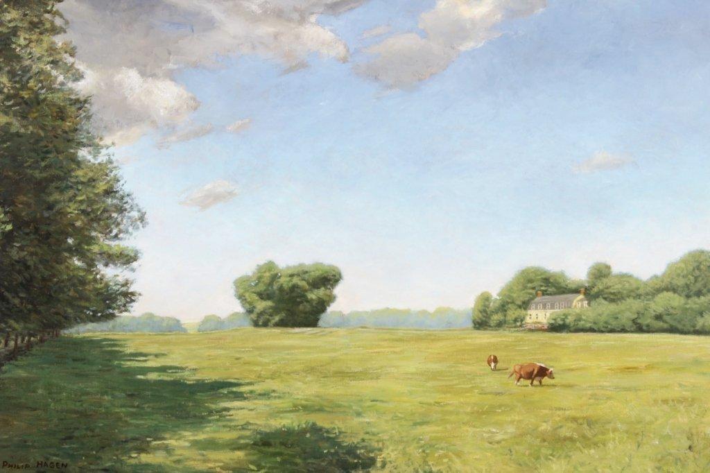 """J. P. Hagen, """"Hammersmith Field"""", O/C/, Signed - 2"""