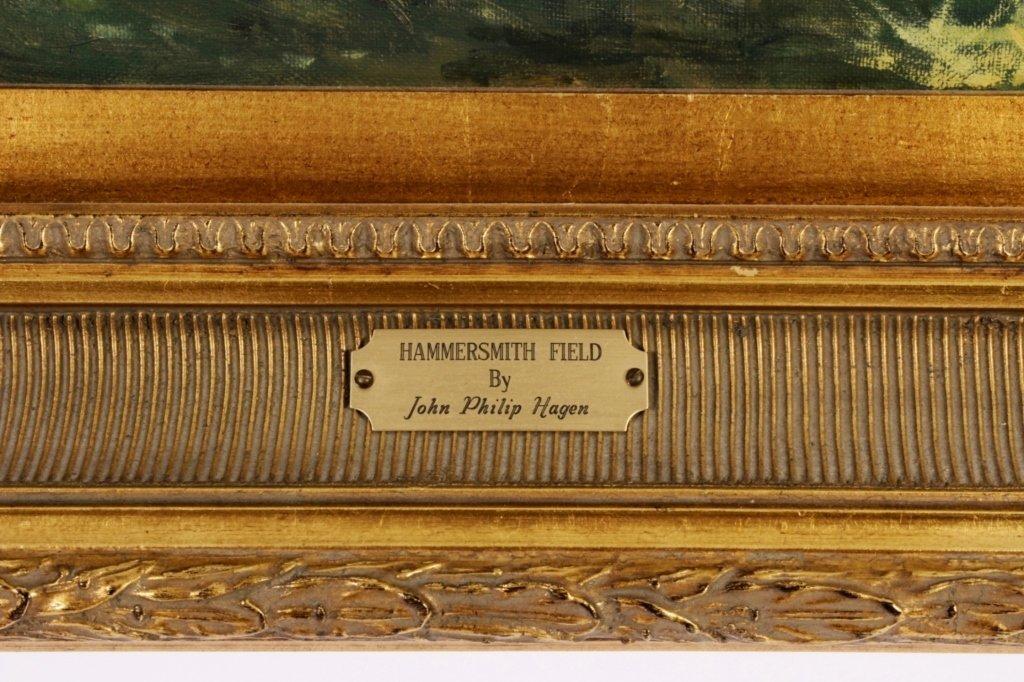 """J. P. Hagen, """"Hammersmith Field"""", O/C/, Signed - 7"""