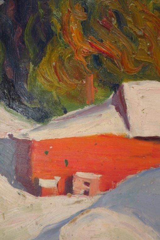 Kalman Oswald, Barn in Winter, O/B - 3