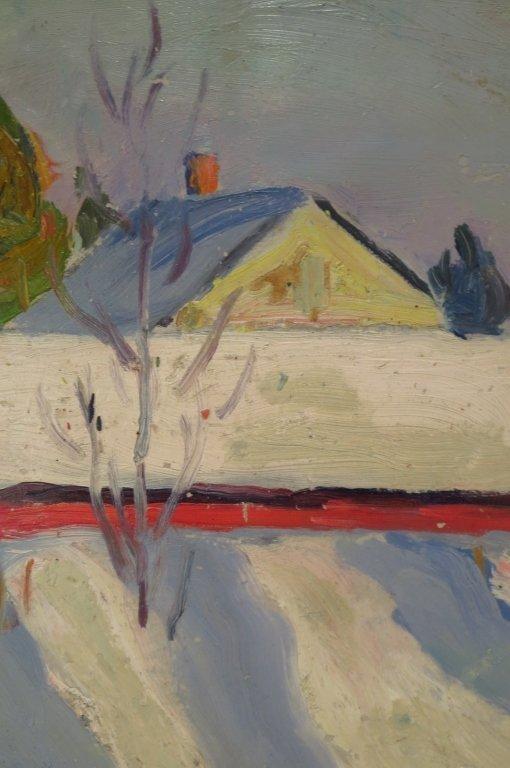 Kalman Oswald, Barn in Winter, O/B - 4