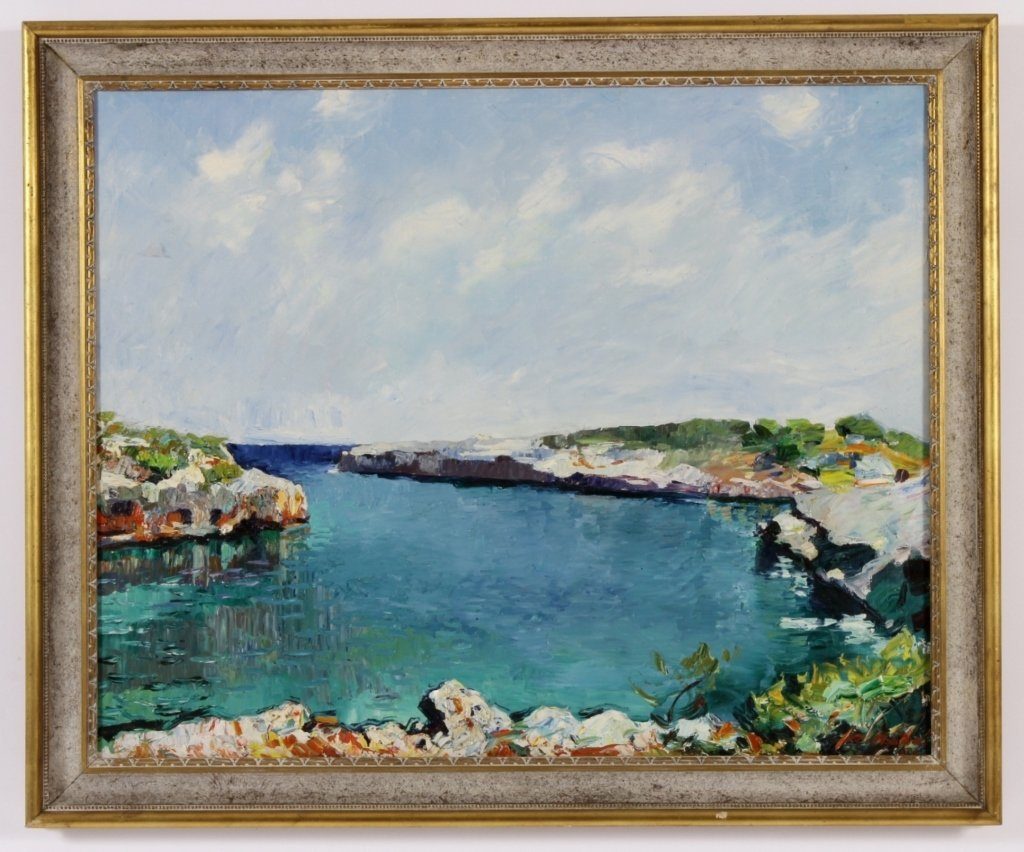 R. Nadai, Seascape, Oil / Canvas, 20th C.