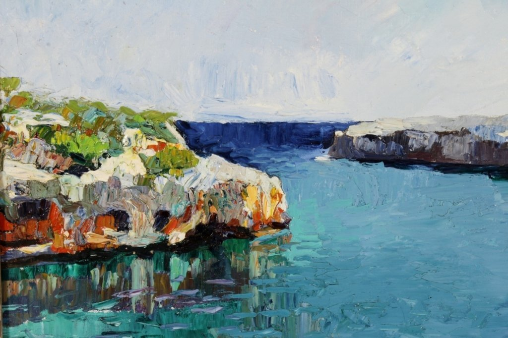 R. Nadai, Seascape, Oil / Canvas, 20th C. - 2