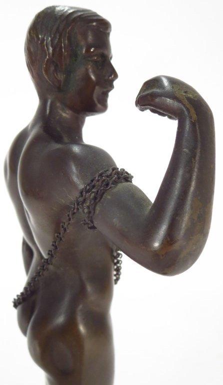 Schwatenberg, Ger,act.1898-1922, Male Nude, Bronze - 3